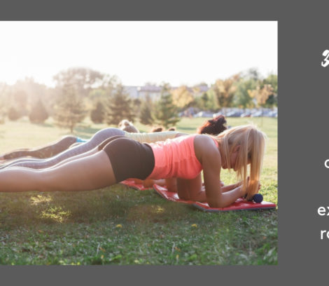 young women exercising plank outdoors in the morning sun